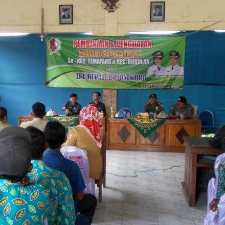 Hari Ini Bupati Anna Beri Pembinaan dan Penguatan Kapasitas RT/RW Di Empat Kecamatan